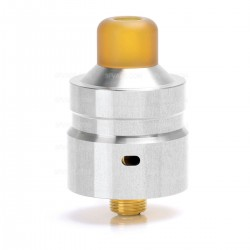 Authentic Hellvape Mostwanted RDA Rebuildable Dripping Atomizer - Silver, 316 Stainless Steel, 22mm Diameter