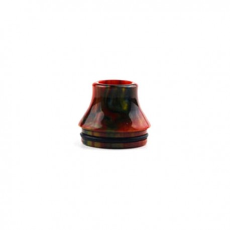 Small Bore Drip Tip for 22mm RDA - Red, Epoxy Resin, 18mm