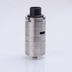 ShenRay Fillian 25mm Style RDA Rebuildable Dripping Atomizer - Silver, Stainless Steel, 25mm Diameter