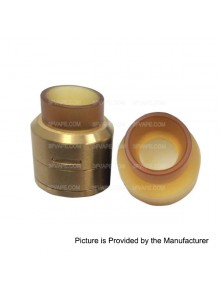Goon LP Style RDA Rebuildable Dripping Atomizer - Golden, Stainless Steel, 22mm Diameter