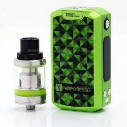 "Authentic Vaporesso Tarot Nano 80W TC 2500mAh 0.91"" OLED VW Variable Wattage Mod + Veco Tank Kit - Green, 5~80W, 2ml, 22mm"