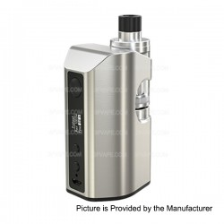 Authentic Eleaf ASTER RT 4400mAh 100W TC VW Variable Wattage Mod with MELO RT 22 Atomizer - Silver, 1~100W, 3.8ml, 0.3 ohm
