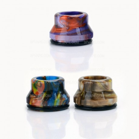 Wide Bore Drip Tip for 22mm RDA - Random Color, Resin, 14.6mm