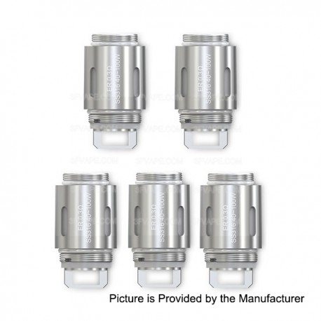Authentic Eleaf ER 0.3 ohm Head for Eleaf ASTER RT with MELO RT 22 - SS316, (40~100W)(5 PCS)