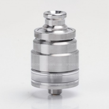 SXK DDP ONE Style RTA Rebuildable Tank Atomizer - Silver, 316 Stainless Steel + PC, 2ml, 22mm Diameter