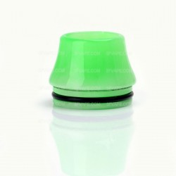 Wide Bore Drip Tip for 22mm RDA - Light Green, Epoxy Resin, 17mm