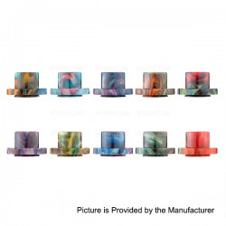 Replacement Wide Bore Drip Tip for Aspire Cleito 120 Tank - Random Color, Resin, 15.2mm