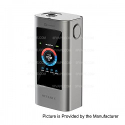 Authentic Joyetech OCULAR C Touchscreen 150W TC VW Variable Wattage Box Mod - Silver, 1~150W, 100~315'C / 200~600'F, 2 x 18650