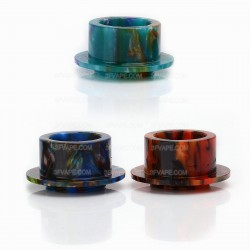 Replacement Wide Bore Drip Tip for VGod TrickTank Pro Style RDTA Atomizer - Random Color, Resin, 12mm