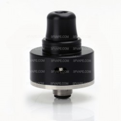 SXK Shift Style RDA Rebuildable Dripping Atomizer w/ Bottom Feeder Pin - Black, Stainless Steel, 22mm Diameter
