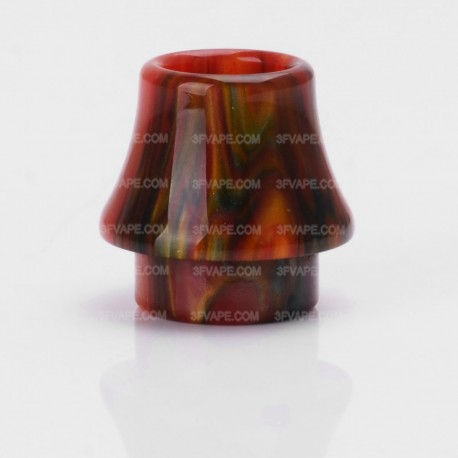 Replacement Drip Tip for Kennedy / Goon / Goon LP / Battle / Reload / Unholy RDA - Black + Red, Epoxy Resin, 17.1mm