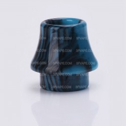 Replacement Drip Tip for Kennedy / Goon / Goon LP / Battle / Reload / Unholy RDA - Black + Blue, Epoxy Resin, 17.1mm