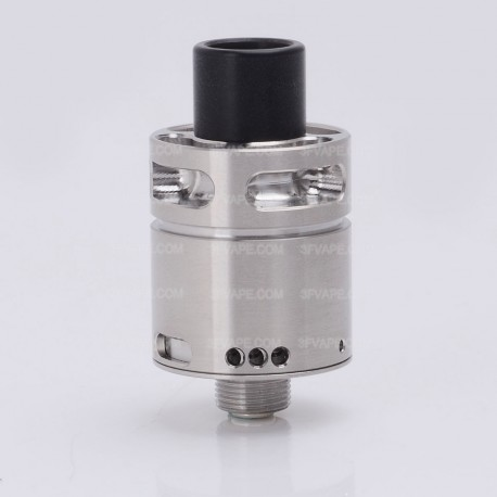 SXK NoToy Style BF RDA Rebuildable Dripping Atomizer w/ Bottom Feeder Pin - Silver, 316 Stainless Steel, 18mm Diameter