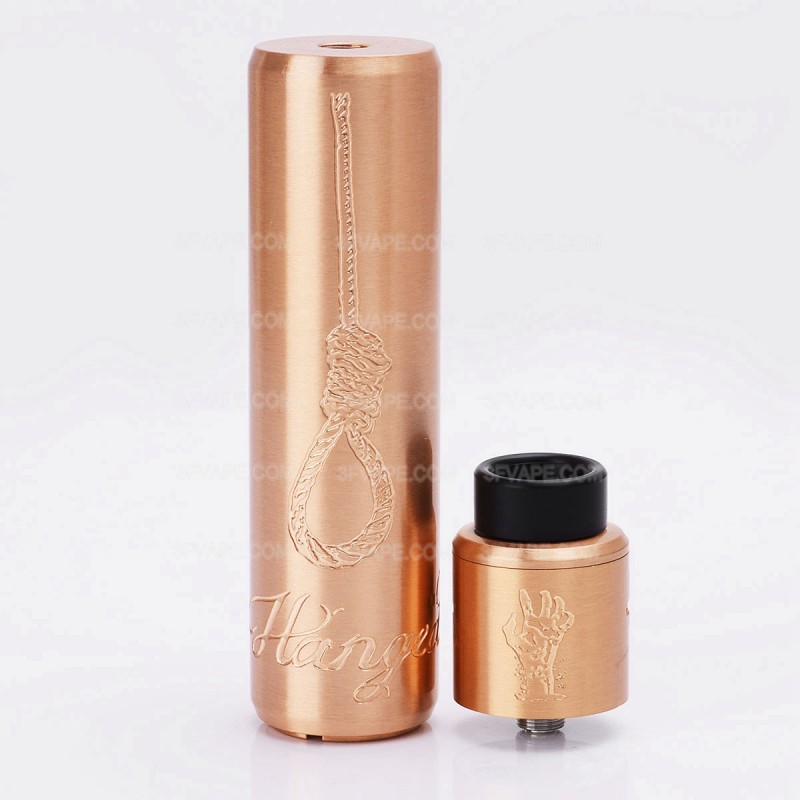 ShenRay Crossbones Hangman Style Mechanical Mod + Unholy RDA Atomizer Kit - Copper, 1 x 18650