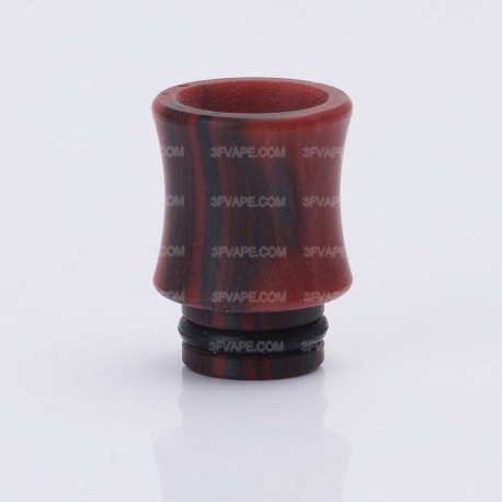 Colorful 510 Drip Tip for RDA / RTA / Clearomizer - Black + Red, Acrylic, 16.5mm