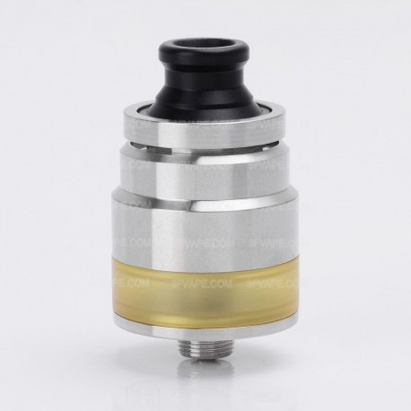 LieFeng DDP ONE Style RTA Rebuildable Tank Atomizer - Silver, 316 Stainless Steel + PC, 2ml, 22mm Diameter
