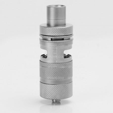 Authentic Uwell D2 RTA Rebuildable Tank Atomizer - Matte Silver, Stainless Steel + Glass, 4ml, 24.7mm Diameter