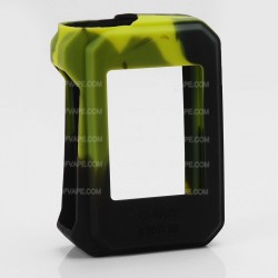 Authentic Vapesoon Protective Silicone Sleeve Case for SMOKTech SMOK G-Priv 220W Mod - Black + Green