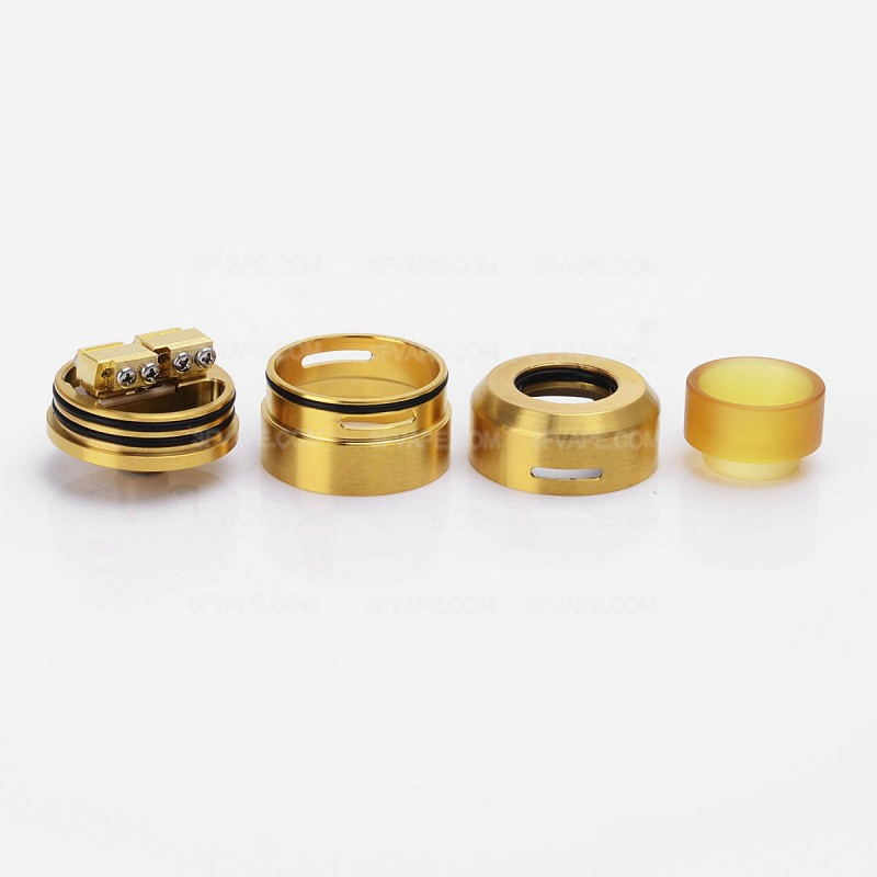 Goon LP Style RDA 24mm Golden Rebuildable Atomizer w/ PEI Drip Cap