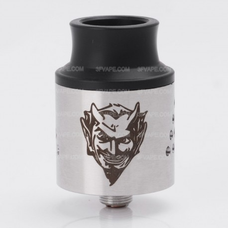 Baal V4 Style RDA Rebuildable Dripping Atomizer - Silver, Stainless Steel, 24mm Diameter