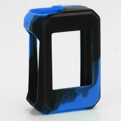 Authentic Vapesoon Protective Silicone Sleeve Case for SMOKTech SMOK G-Priv 220W Mod - Black + Blue