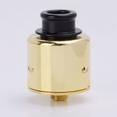 Authentic ADVKEN Ziggs V2 RDA Rebuildable Dripping Atomizer - Golden, Stainless Steel + Aluminum, 24mm Diameter