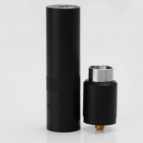Kennedy Style Hybrid Mechanical Mod + Kennedy Trickster 24 Style RDA Kit - Black, Brass, 1 x 18650, 24mm