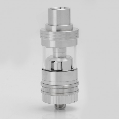 Authentic Uwell Crown Mini Sub Ohm Tank Subtank Clearomizer - Silver, Stainless Steel + Glass, 2.0ml, 0.25 ohm, 22mm Diameter