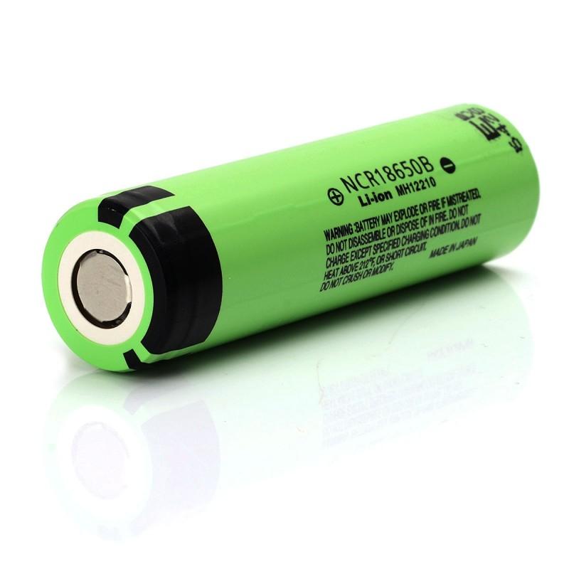Panasonic Ncr18650b 18650 3400mah High Drain Flat Top Battery