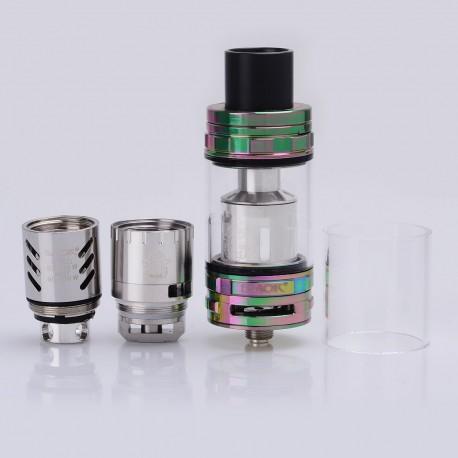 Authentic SMOKTech SMOK TFV8 CLOUD BEAST Sub Ohm Tank Atomizer - Rainbow, Stainless Steel + Glass, 6ml, 24.5mm Diameter