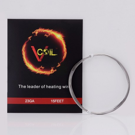 Authentic VCOIL FeCrAl Heating Wire for RBA / RTA / RDA Atomizer - 23 AWG / 0.57mm dia. / 5m (15ft)