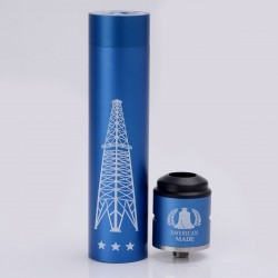 Rig V3 Style Mechanical Mod + Terk Style RDA Rebuildable Dripping Atomizer Kit - Blue, Aluminum, 1 x 18650