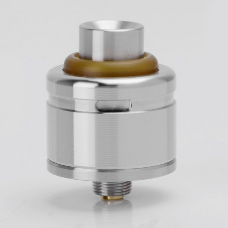 SXK IAI RDA V2 Style RDA Rebuildable Dripping Atomizer w/ Bottom Feeder Pin - Silver, 316 Stainless Steel, 22mm Diameter