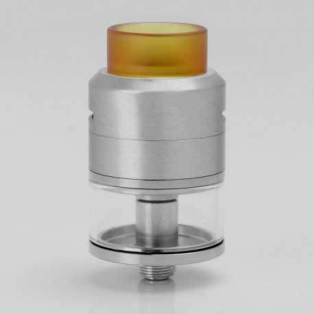 Goon LP Style RDTA Rebuildable Dripping Tank Atomizer - Silver, Stainless Steel + Glass, 2.5ml, 22mm Diameter