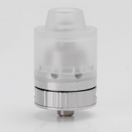 SXK Hussar Style RDA Rebuildable Dripping Atomizer - Silver, 316 Stainless Steel + Acrylic, 24mm Diameter