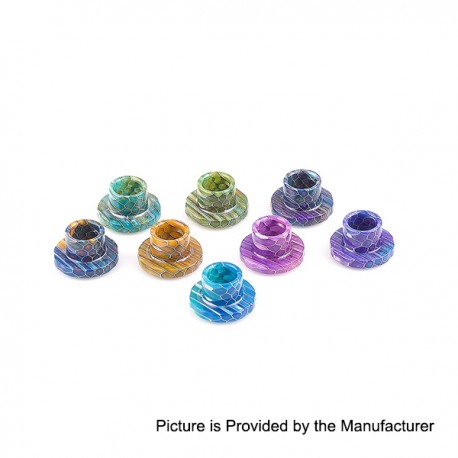 Replacement Wide Bore Drip Tip for Aspire Cleito 120 Tank - Random Color, Epoxy Resin, 15mm