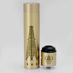 Rig V3 Style Mechanical Mod + Terk Style RDA Rebuildable Dripping Atomizer Kit - Brass, Brass, 1 x 18650
