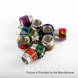 Replacement Drip Tip for Kennedy 24 / 25 / Goon / Goon LP / Battle / Reload - Random Color, Epoxy Resin + Stainless Steel, 15mm