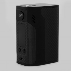 Authentic Wismec Reuleaux RX300 300W TC VW Variable Wattage Mod - Black, Carbon Fiber, 1~300W, 100~315'C / 200~600'F, 4 x 18650
