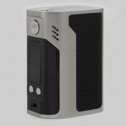 Authentic Wismec Reuleaux RX300 300W TC VW Variable Wattage Mod - Silver, Carbon Fiber, 1~300W, 100~315'C / 200~600'F, 4 x 18650