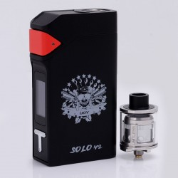Authentic IJOY SOLO V2 200W TC VW Box Mod + Limitless Sub Ohm Tank Starter Kit - Black, 5~200W, 2 x 18650, 2ml, 0.3 ohm, 24mm