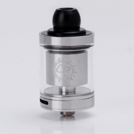 Authentic ADVKEN CP1.2 V1.2 RTA Rebuildable Tank Atomizer - Silver, Stainless Steel + Glass, 2.5ml, 24mm Diameter