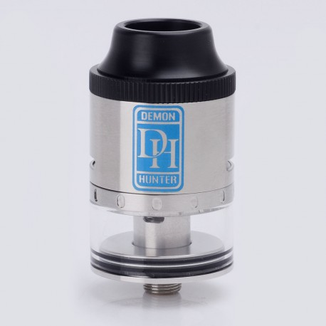Authentic SMOKJOY Demon Hunter RDTA Rebuildable Dripping Tank Atomizer - Silver, Stainless Steel + Glass, 2.8ml, 25mm Diameter