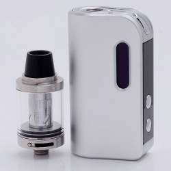 Authentic SMOKJOY Air 50S 50W 1400mAh TC VW Variable Wattage Mod + Air Tank Starter Kit - Silver, 7~50W, 2.0ml, 0.6 ohm