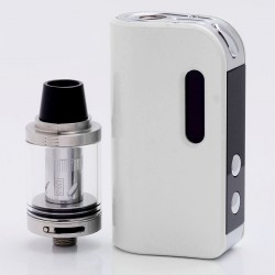 Authentic SMOKJOY Air 50S 50W 1400mAh TC VW Variable Wattage Mod + Air Tank Starter Kit - Pearl White, 7~50W, 2.0ml, 0.6 ohm