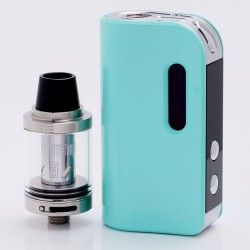 Authentic SMOKJOY Air 50S 50W 1400mAh TC VW Variable Wattage Mod + Air Tank Starter Kit - Tiffany Blue, 7~50W, 2.0ml, 0.6 ohm