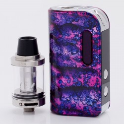 Authentic SMOKJOY Air 50S 50W 1400mAh TC VW Variable Wattage Mod + Air Tank Starter Kit - Purple + Red, 7~50W, 2.0ml, 0.6 ohm