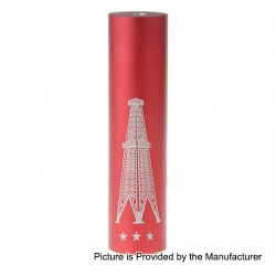 Rig V3 Style Mechanical Mod - Red, Aluminum, 1 x 18650