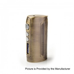 Authentic Pioneer4you IPV D4 TC VW Variable Wattage Box Mod - Bronze Yellow, 7~80W, 10J~80J, 1 x 18650