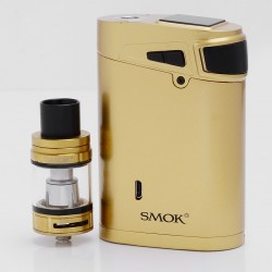 Authentic SMOKTech SMOK G320 320W TC VW Mod + TFV8 Big Baby Tank Marshal Kit - Golden, 5ml, 0.15 Ohm, 2 / 3 x 18650